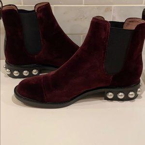 """Louise et Cie """"Vinn"""" Velvet and pearl boots"""